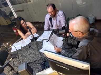 Luiz Antônio Chies e Mariana Madruga em entrevista ao Programa Super Tarde