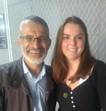Vereador Toninho Peres (PSB) e Renata Gomes, secretária da Associação Nacional de Fibromiálgicos