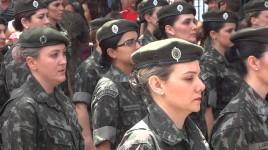 Exército recebe mulheres na Aman para ensino militar bélico