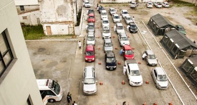 Prefeitura de Pelotas faz drive-thru de vacinação no fim de semana